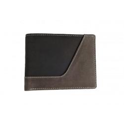 Pánská kožená peněženka Tom 1089-82-84 černá/šedá