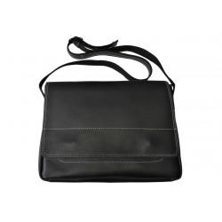 Kožená taška přes rameno 437-1 černá