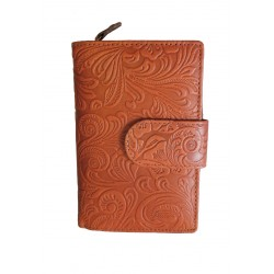 Dámská kožená peněženka DD D 121-39 tan (ražba)