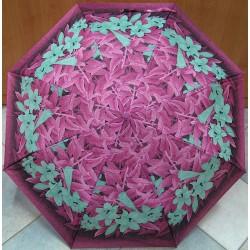 Skládací vystřelovací deštník Perletti 25633 fialovo-zelený