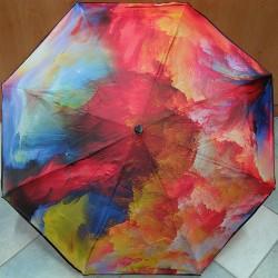 Skládací dámský deštník Perletti 25788 pestrobarevný/černý lem