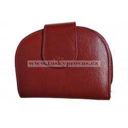 Dámská kožená peněženka DD W 30-08 tm.červená