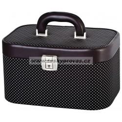 Kufr kosmetický DUP 230804-011 černý-bílé puntíky