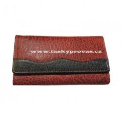 Dámská kožená peněženka Lagen 4013 červená/černá