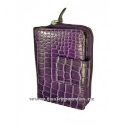 Dámská kožená peněženka Lagen 9501 burgandy/kroko