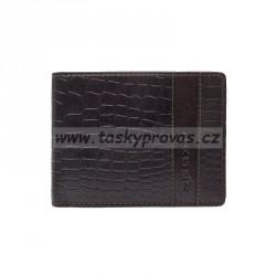 Pánská kožená peněženka Lagen 4019W hnědá