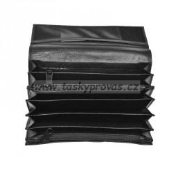 Kožená kasírka Tal. 300.69 černá