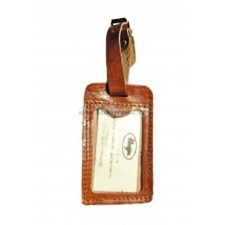 Kožená visačka na zavazadlo Hajn 291201.0 sv.hnědá