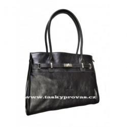 Luxusní kožená kabelka Hexagona 112353 černá