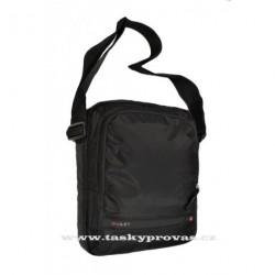 Diviley WC 19193 černá Sportovní taška s polstrovanou kapsou na tablet