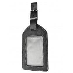 Kožená visačka na zavazadlo DD D 001-99 černá