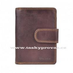 Dámská kožená peněženka Dante NEW Famito 7046 tmavě hnědá