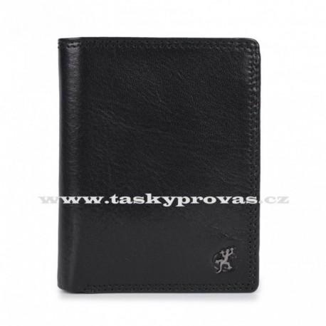 Pánská kožená luxusní peněženka Cosset 4501 Komodo černá