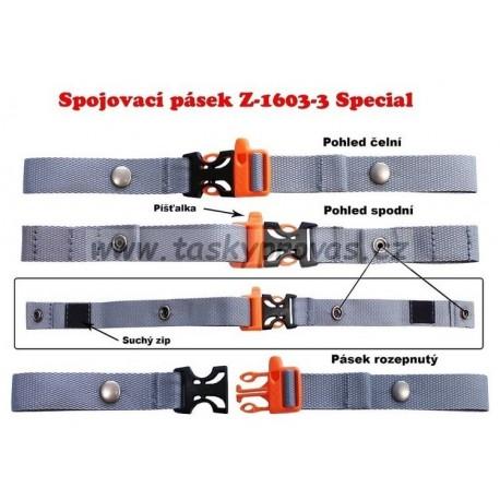 Spojovací hrudní pásek Emipo special (šedá, oranžová)