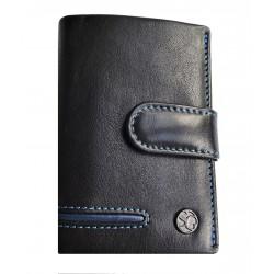 Kožené pouzdro na kreditní karty nebo doklady Segali 753.115.5535 black/blue