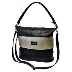 Elegantní kabelka Hurt H-334 (27) černá/zlatá