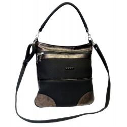 Elegantní kabelka Hurt H-475 (2) černá/bronzová
