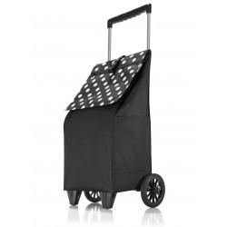 Nákupní taška na kolečkách Dup 230304-026 černá puntík