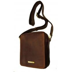 Kožená taška přes rameno SendiDesingn SD-52005 hnědá