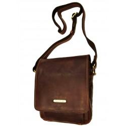 Kožená taška přes rameno SendiDesingn SD-1101 hnědá
