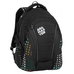 Studentský batoh Bagmaster BAG 8 D BLACK/GREEN/GRAY