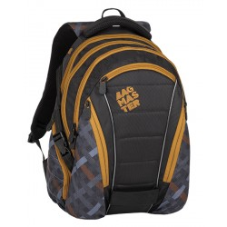Studentský batoh Bagmaster BAG 8 E BLACK/GRAY/BROWN