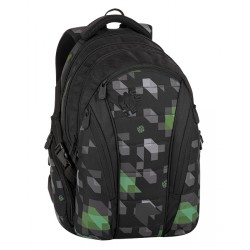 Studentský batoh Bagmaster BAG 8 G BLACK/GREEN/GRAY
