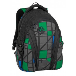 Studentský batoh Bagmaster BAG 8 H BLACK/GRAY/GREEN