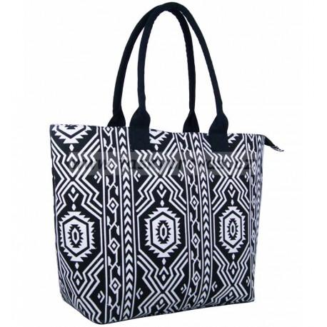 Dámská taška JAZZI 3157 - černá/bílá