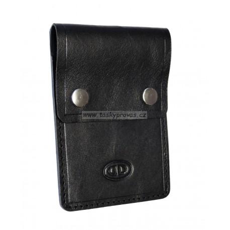 Kožené pouzdro na kreditní karty DD X 4756-01 černé