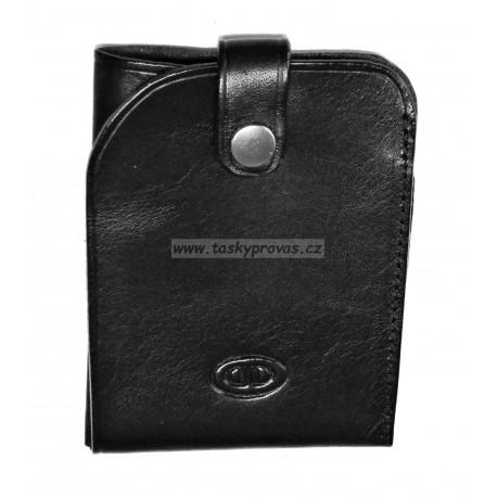 Kožené pouzdro na kreditní karty DD X 4912-01 černé