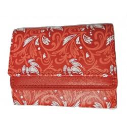 Malá kožená peněženka DD 1185-88 červená