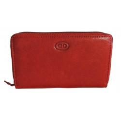 Dámská kožená peněženka DD D206-07 vínová