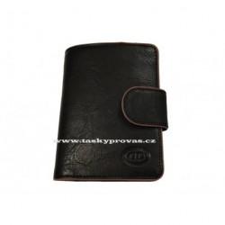 Kožená peněženka DD 041-01 černá