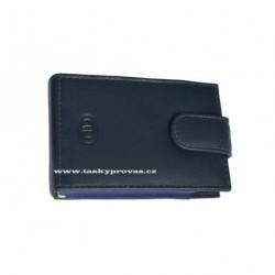 Kožené pouzdro na kreditní karty nebo vizitky DD 100-06 tm.modré