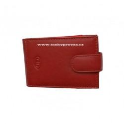 Kožené pouzdro na kreditní karty nebo vizitky DD 100-08 červené