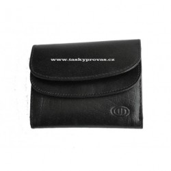 Malá kožená peněženka DD S 2039-01 černá