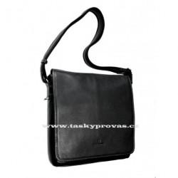 Kožená taška přes rameno Hexagona 469563 černá