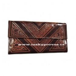 Dámská kožená peněženka DD SG 001/EWS hnědá