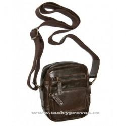 Kožená crossbody taška Lagen 3015/T tm.hnědá