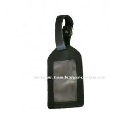Kožená visačka na zavazadlo DD X 001-99 černá