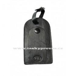 Kožená visačka na zavazadlo DD S 400-01 černá
