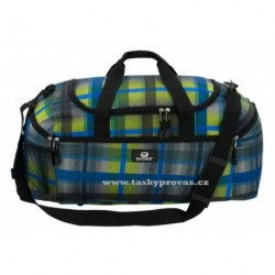 Cestovní taška Friedrich Lederwaren Olomolo 56043-0-5 šedá/modrá/zelinkavá