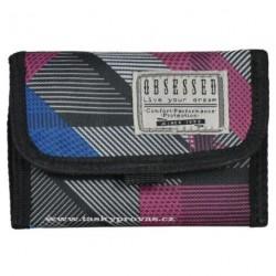 Peněženka textilní OBSESSED 6706 Dynamic - modrá/růžová