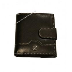 Pánská kožená peněženka Evoco 755.139.850 černá/šedá