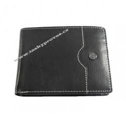 Pánská kožená peněženka Evoco 755.139.2017 černá/modrá