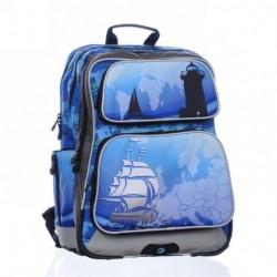 Chlapecký školní batoh Bagmaster GOTSCHY 0215 A Blue (modrá/šedá/koráb)