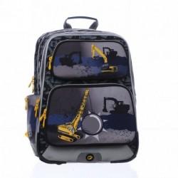 Chlapecký školní batoh Bagmaster GOTSCHY 0215 B Black (černá/šedá/žlutá/bagr)