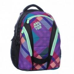 Studentský batoh Bagmaster BAG 0115 A Pink/green černá/zelená/fialová/růžová