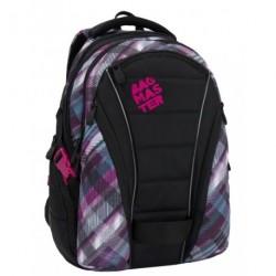 Studentský batoh Bagmaster BAG 6 C black/blue/pink (černá/růžová/modrá)